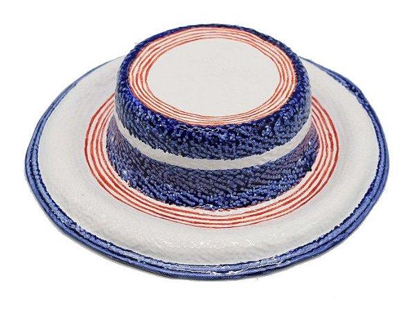 Chapéu listras azul e vermelha Zanatta Casa