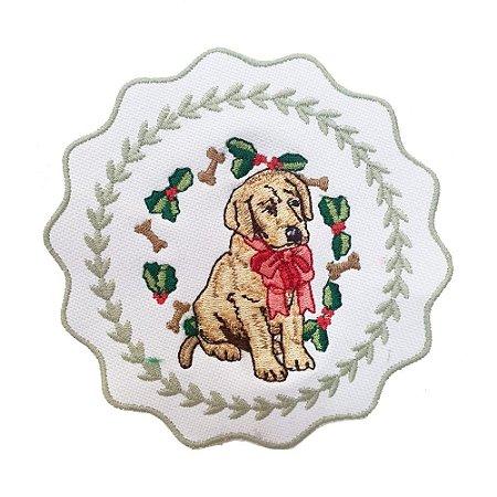Porta copos cachorro de Natal (set com 6)