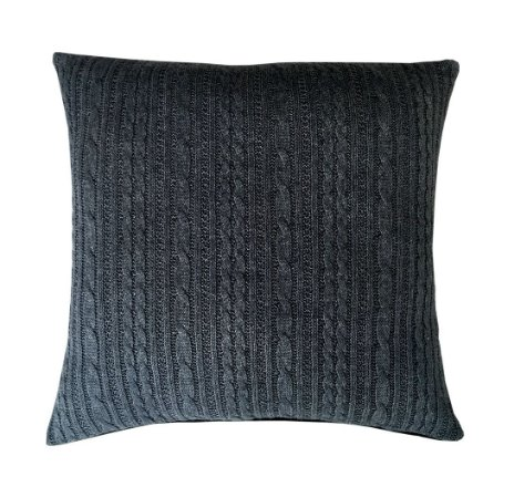 Capa de almofada tricô cinza escuro 50x50 cm