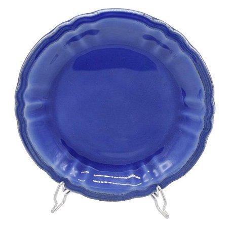Prato sobremesa cereja azul reativo Zanatta Casa