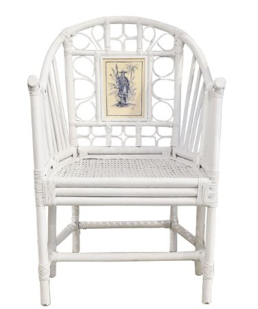 Cadeira branca com aquarela guerreiro