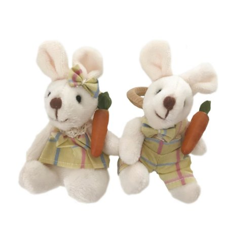 Porta guardanapo casal coelhos xadrez amarelo Colorido