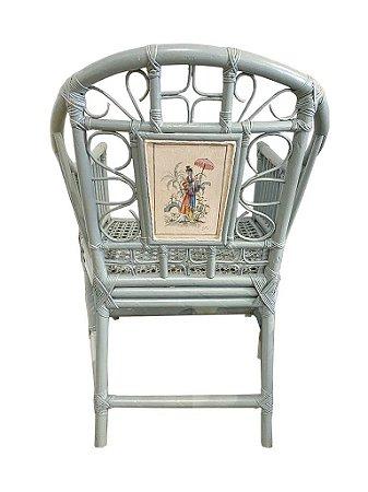 Cadeira chino aquarela gueixa