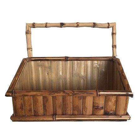 Porta temperos em bambu natural