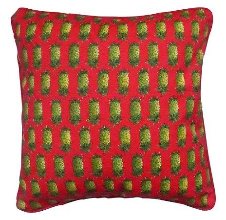 Capa de Almofada Abacaxi Vermelha 48x48 cm