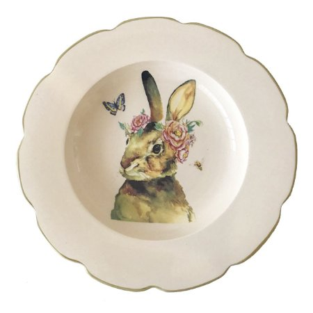 Prato raso borda ondulada verde musgo coelha com flores