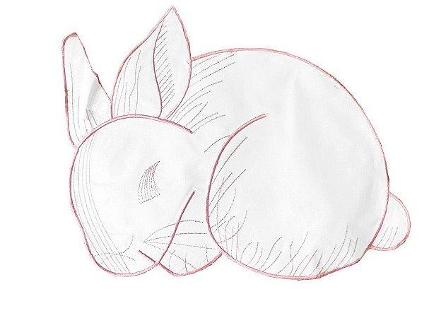 Jogo americano coelho rosa bordado