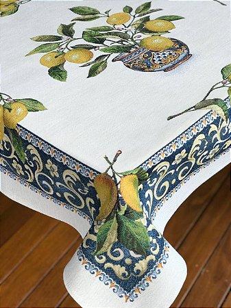 Toalha de mesa limão siciliano retangular 1,40 x 2,40 m
