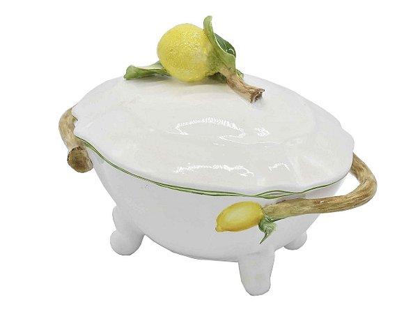 Sopeira PP com aplicação e desenho de limão siciliano