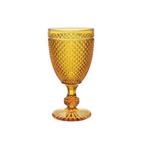 Taça bico de jaca âmbar (jogo 6)