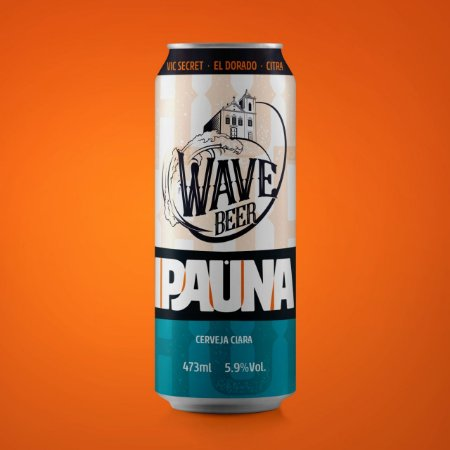 CERVEJA WAVE IPAUNA - Lata 473 ML