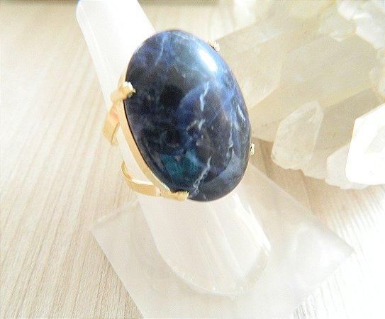Anel Pedra Sodalita