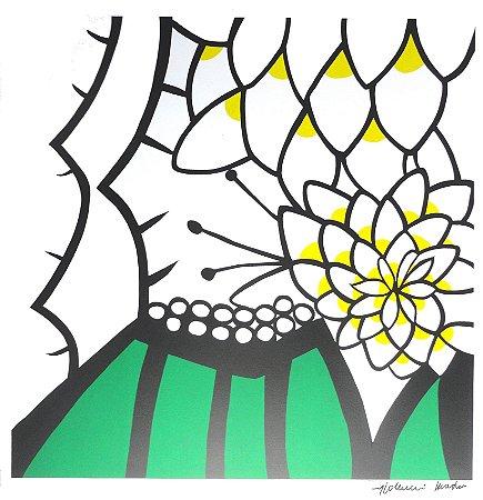 Gravura Flor de Mandacaru