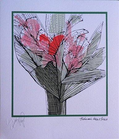 Mini Gravura Flores