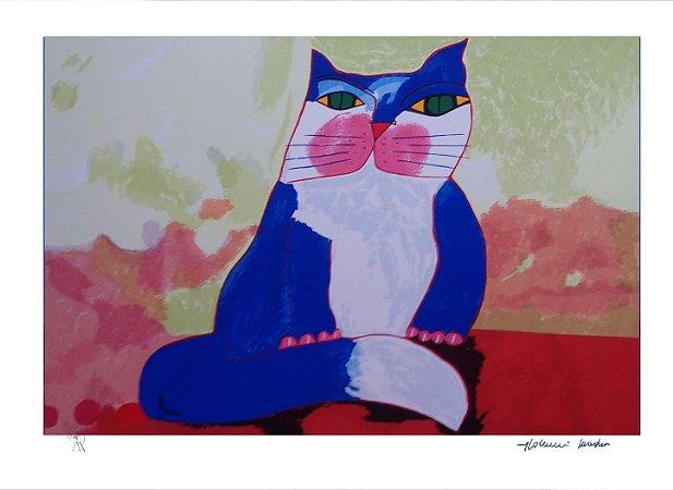 Gravura Gato Azul II