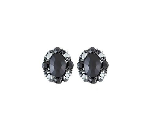 Brinco Armazem RR Bijoux cristal preto