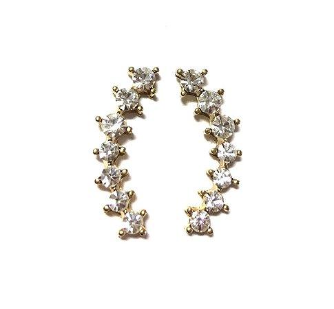 Brinco Armazem RR Bijoux mini ear cuff cristal