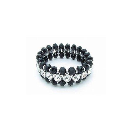 Pulseira Armazem RR Bijoux cristais pretos