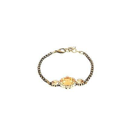 Pulseira Armazem RR bijoux cristal ouro velho