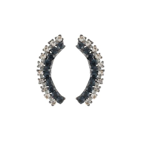 Brinco Armazem RR Bijoux ear cuff cristal azul marinho