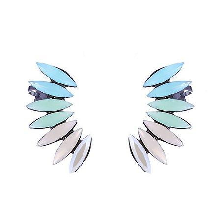 Brinco Armazem RR Bijoux ear cuff azul
