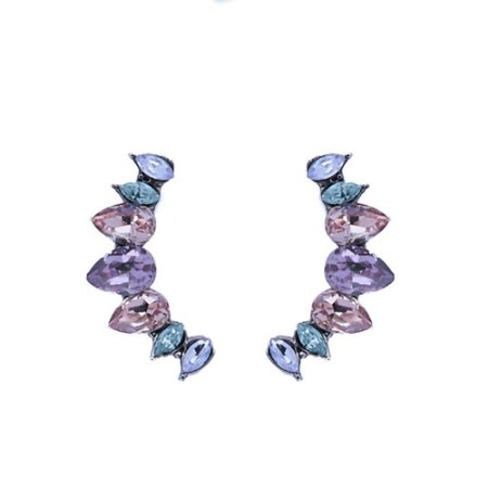 Brinco Armazem RR Bijoux ear cuff mini gotas coloridas