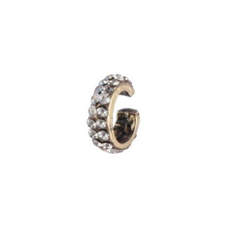 Brinco Armazem RR Bijoux piercing cristais cravejados