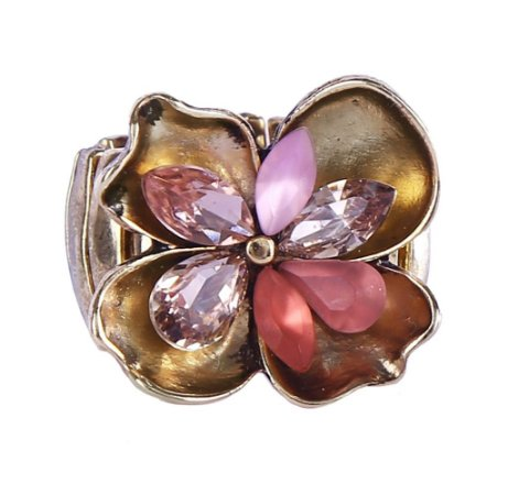 Anel Armazem RR Bijoux flor rosa