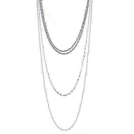 Colar Armazem RR Bijoux correntes prata