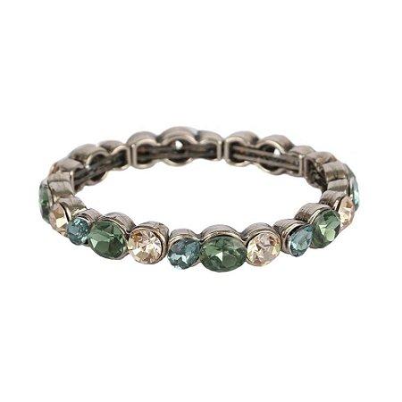 Pulseira Armazem RR Bijoux cristais azul e verde