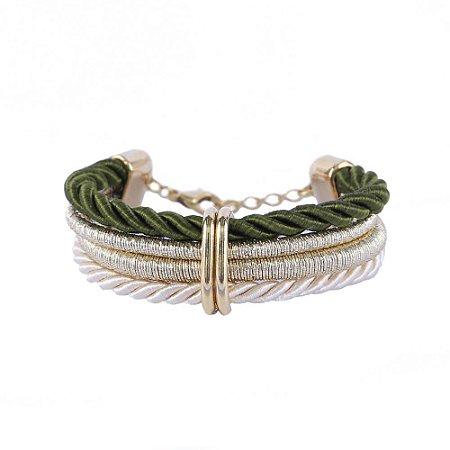 Pulseira Armazem RR Bijoux cordão verde