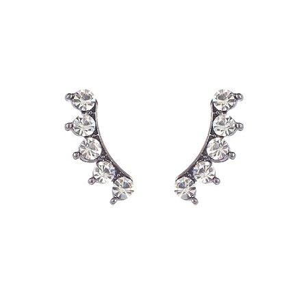 Brinco Armazem RR Bijoux ear cuff cristais