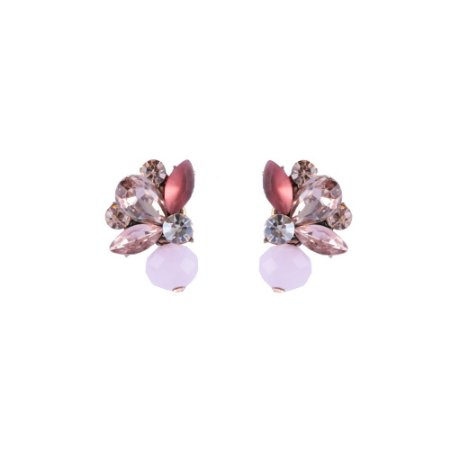 Brinco Armazem RR Bijoux cristais rose