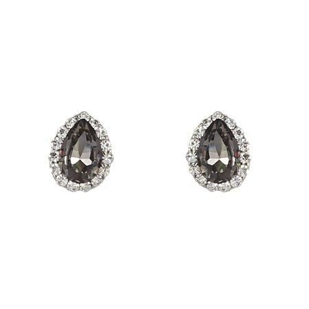 Brinco Armazem RR Bijoux mini gota com cristais prata