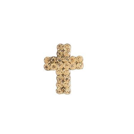 Broche Armazem RR Bijoux cruz dourado