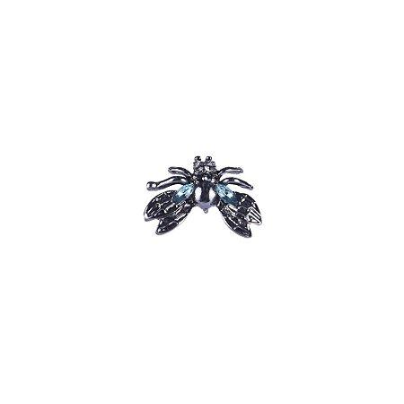 Broche Armazem RR Bijoux bezouro cristal azul