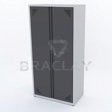 Armário Industrial Modular Alto 4 Prat. 1000x2000x550mm BRA-1100 FLEX BRACLAY