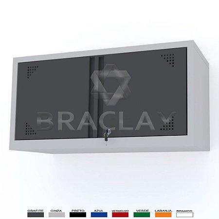 ARMÁRIO INDUSTRIAL MODULAR SUSPENSO 1000X500X350MM BRA-0410 FLEX BRACLAY