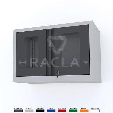 ARMÁRIO INDUSTRIAL MODULAR SUSPENSO 750X500X350MM BRA-0475A FLEX BRACLAY