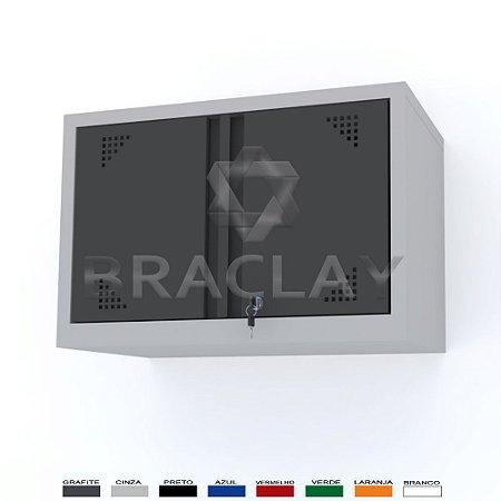 ARMÁRIO INDUSTRIAL MODULAR SUSPENSO 750X500X350MM BRA-0475 FLEX BRACLAY