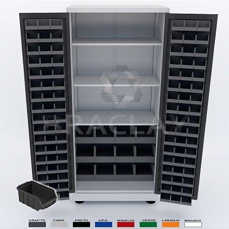 Armário Industrial porta componentes para caixas Bin nº.3 e 7 BRA-294CBP Braclay