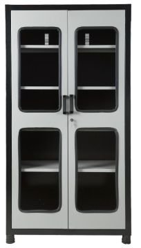 Armário industrial para ferramentas c/ 04 prateleiras e porta em vidro ORK-016