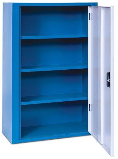 Armário industrial para parede c/ 03 prateleiras e porta em aço ou acrílico ARM-023/027