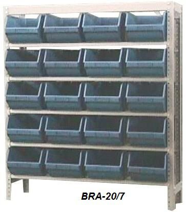 Estantes Para Caixa Bin Porta Componentes Para Gavetas n.7 BRA-21/7 Braclay
