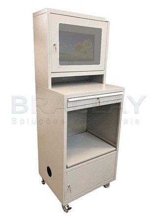 Rack Industrial monitor LCD c/ microventilador (opcional)  BRA-1099 BRACLAY