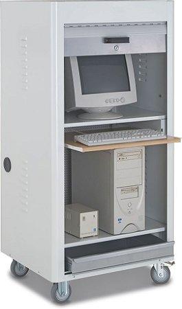 Rack Industrial Para Computador C/ Porta em Persiana  RPCVMINI CMB