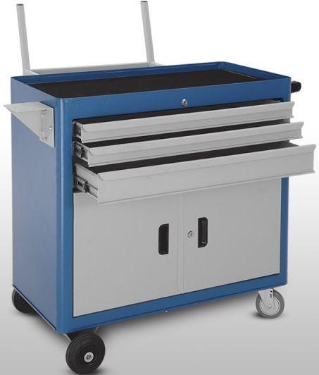 Caccrinho industrial c/ 03 Gavetas e 02 Portas suporte para Pneu CMB-14P