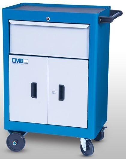 Carrinho Industrial para Ferramentas c/ 01 Gaveta e 02 Portas CMB-617