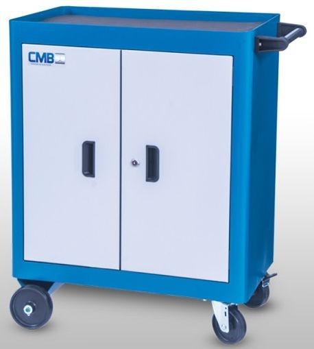 Carrinho Industrial para Ferramentas Fechado c/ 02 Portas CMB-618