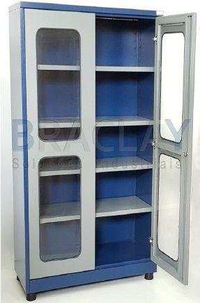 Armário industrial multiuso c/ 04 prateleiras e porta em acrilico BRA-290A BRACLAY